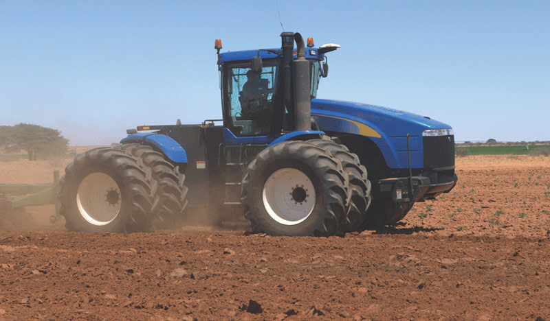 H.J. Lind & Sons: - new holland tractor